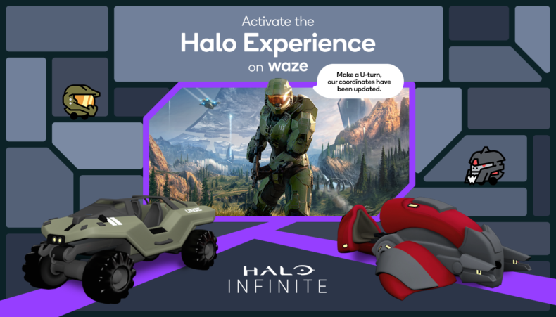 Beat the traffic with Master Chief and Waze