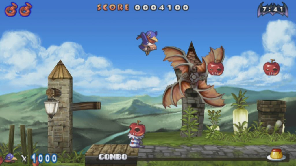 A screenshot of the first Prinny game