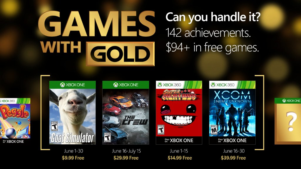 Xbox Live Games With Gold June 2016 Titles Revealed