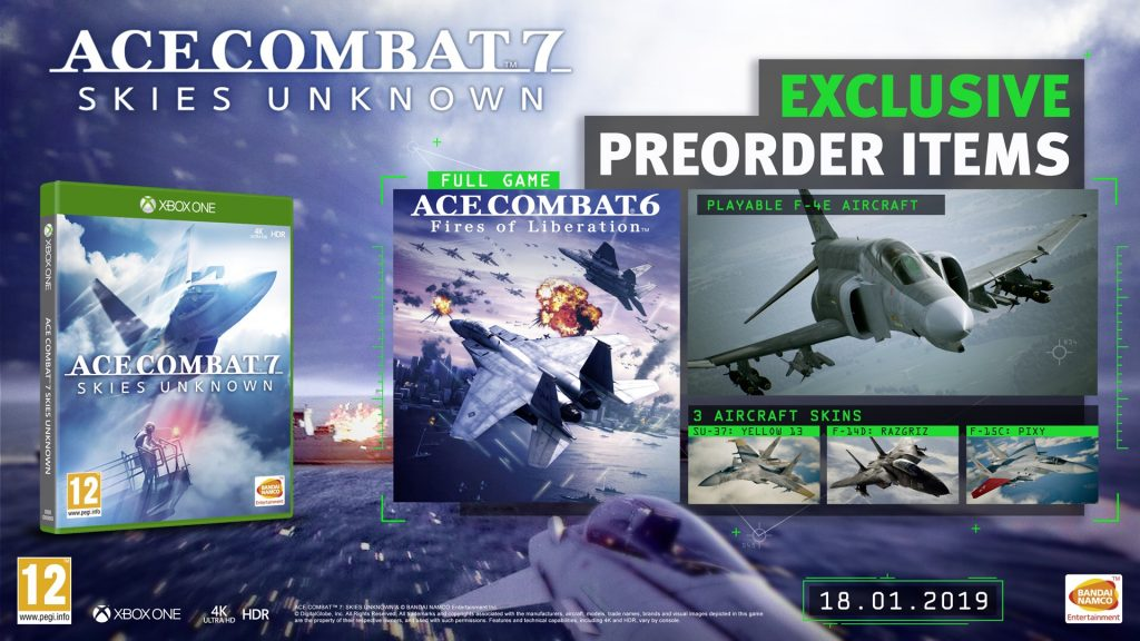 Ace Combat 7: Skies Unknown gets great pre-order bonuses on