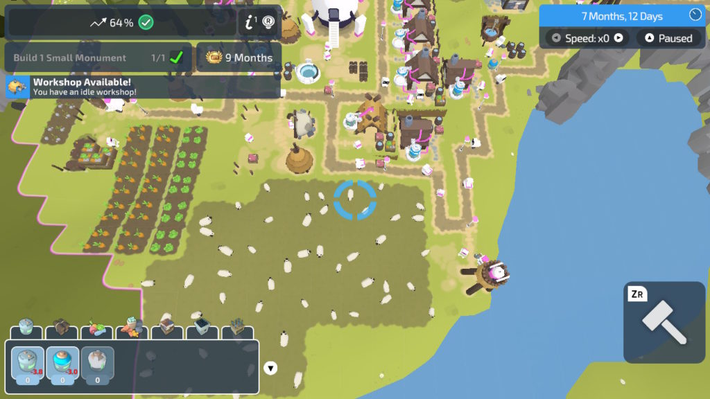 A screenshot of The Colonists