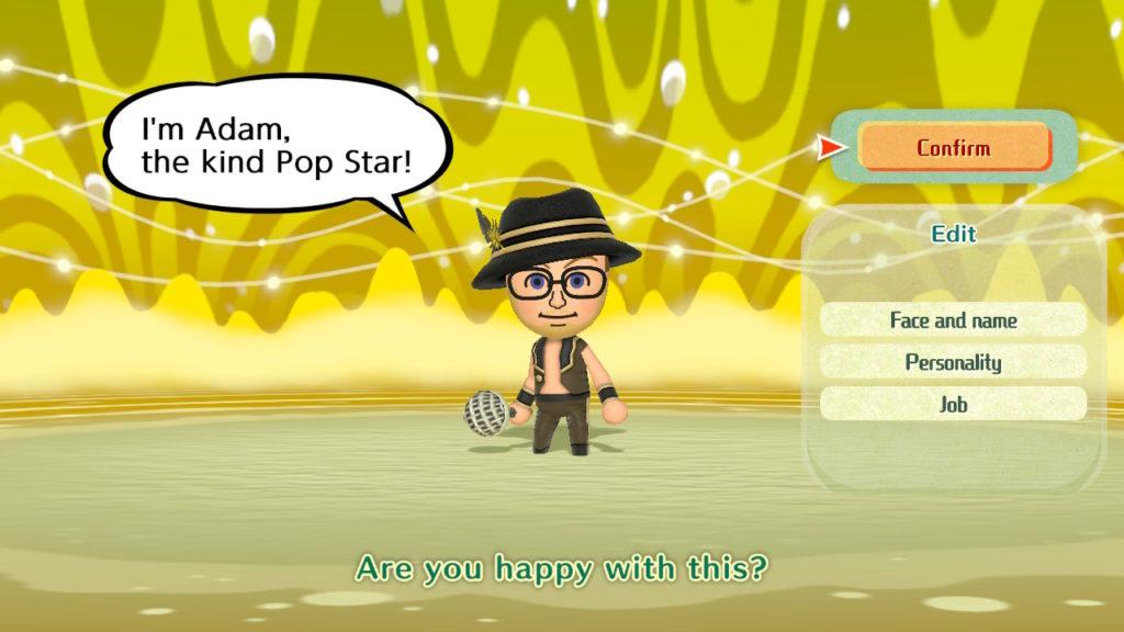 A screenshot of Miitopia