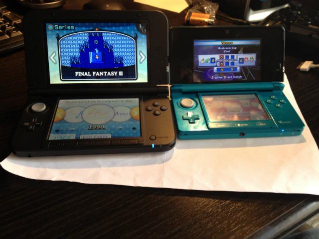3DS XL To 3DS Comparison - Open