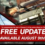 AOT 2 / Attack on Titan 2 is getting a big free update on August 9 for all platforms and here's what it includes