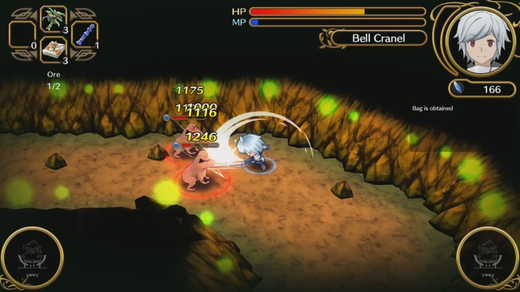 A screenshot of Is It Wrong to Try to Pick Up Girls in a Dungeon? Infinite Combat
