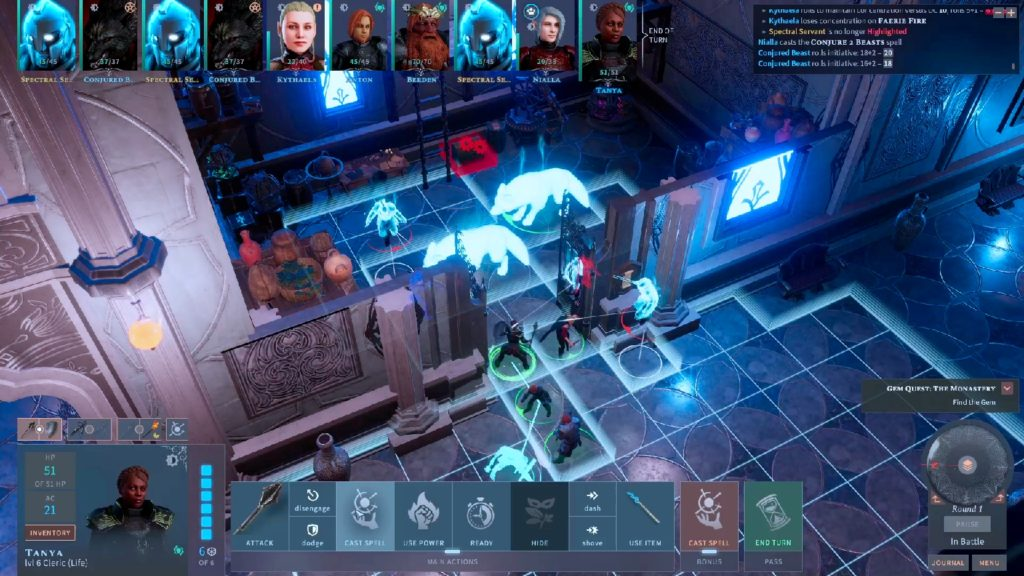 A screenshot of Solasta: Crown of the Magister