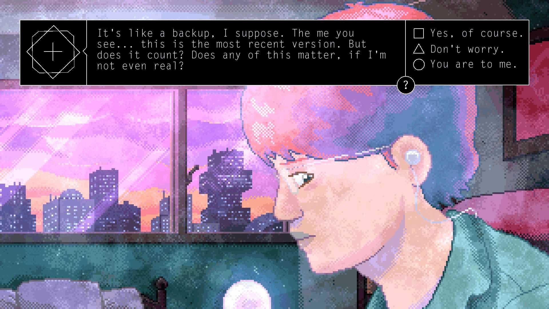 Alone with you dialogue screenshot
