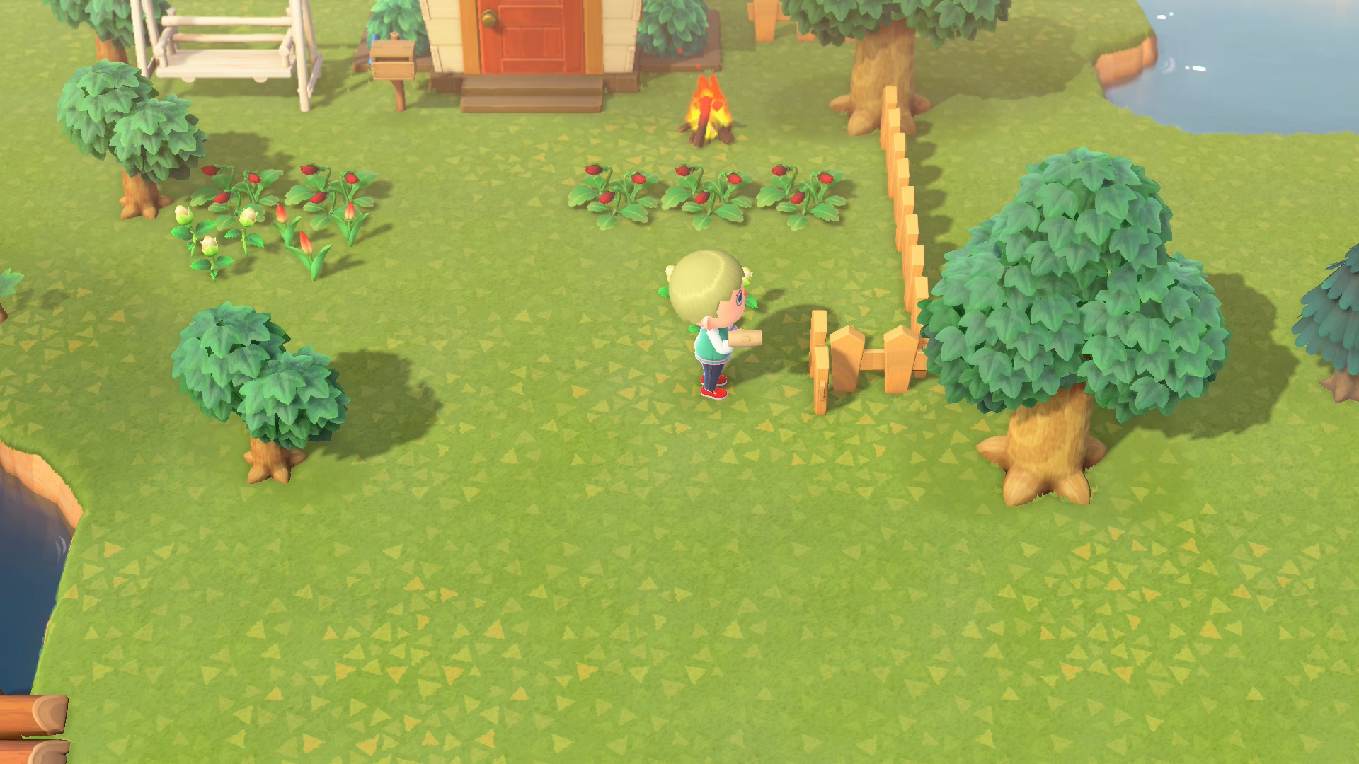 Animal Crossing: New Horizons screenshot - fencing