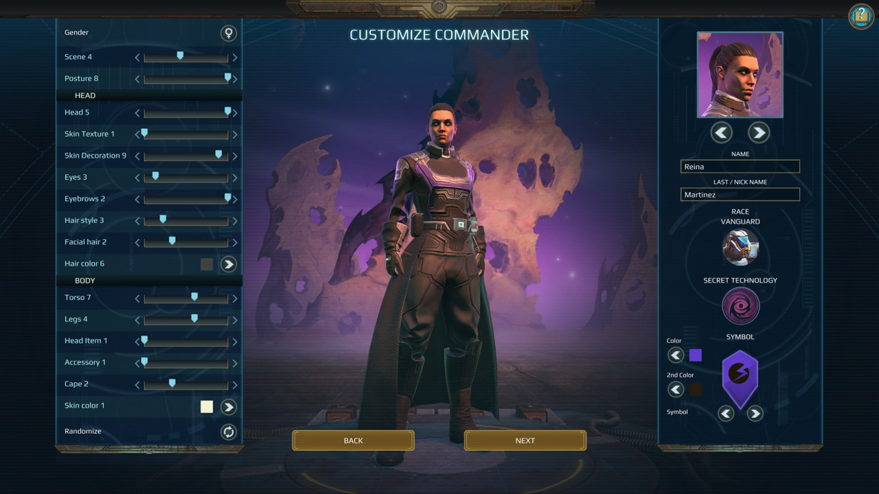 Age of Wonders: Planetfall commander customization