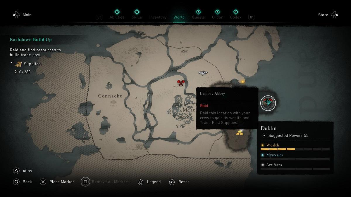 Assassins Creed Valhalla Wrath of the Druids Lambay Abbey Monastery