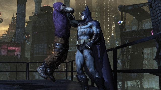 Batman: Arkham City - Batman Holding Goon