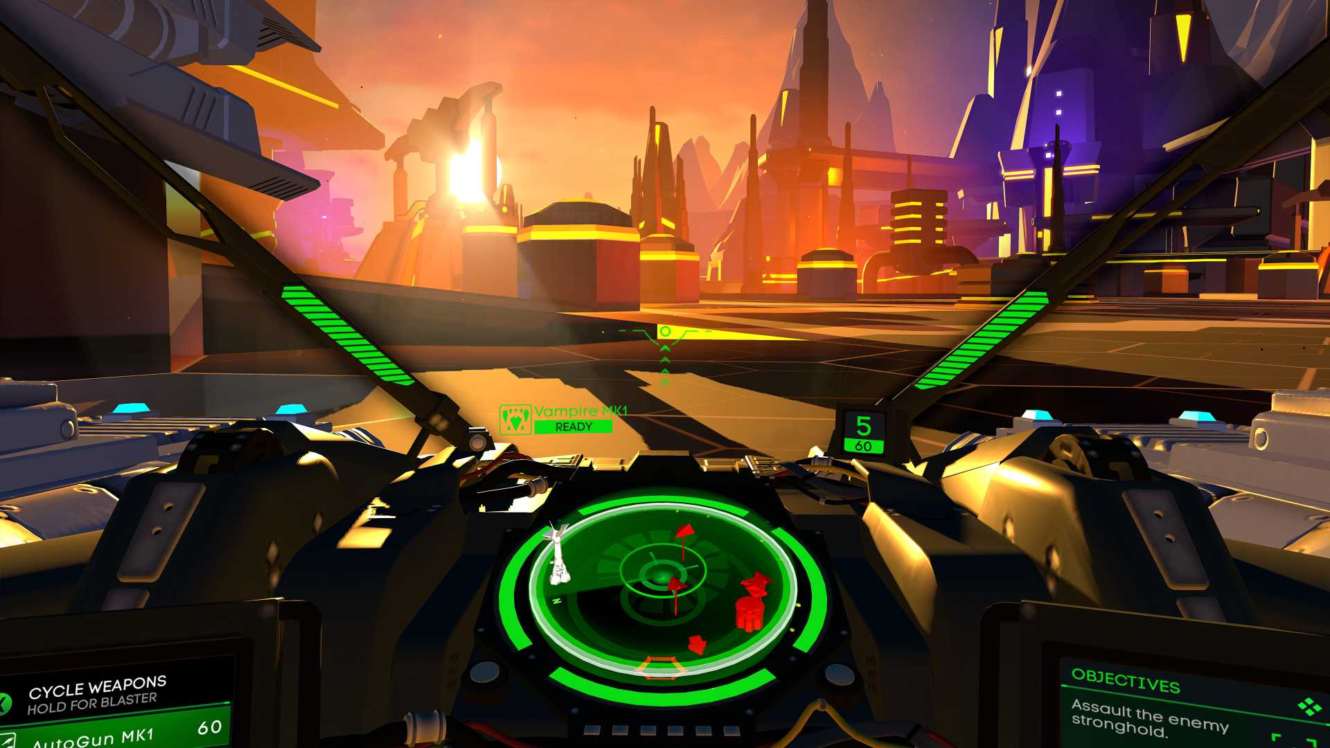 Battlezone screenshot cockpit