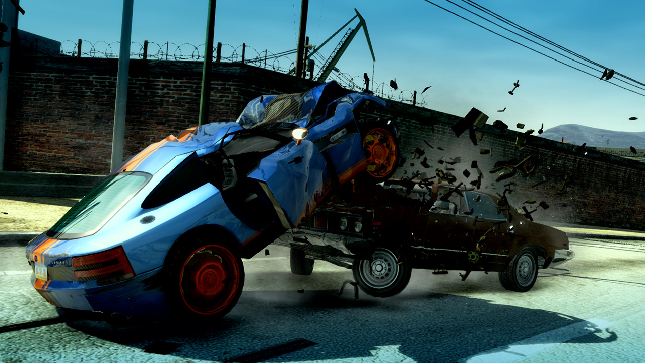 A screenshot from Burnout Paradise Remastered Switch