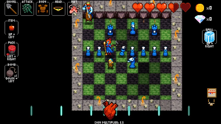 Crypt of the NecroDancer chessboard