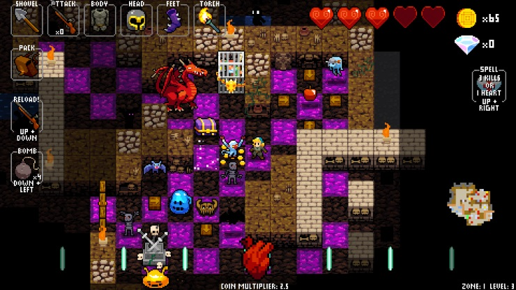 Crypt of the NecroDancer zone 1