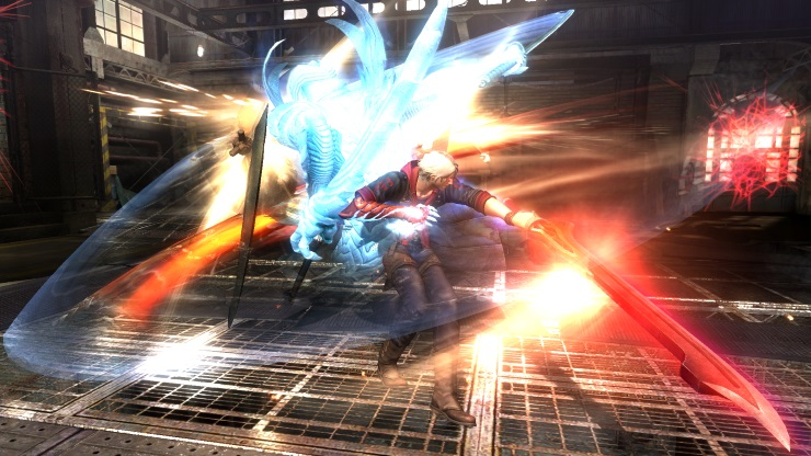 DMC4 SE Nero fighting