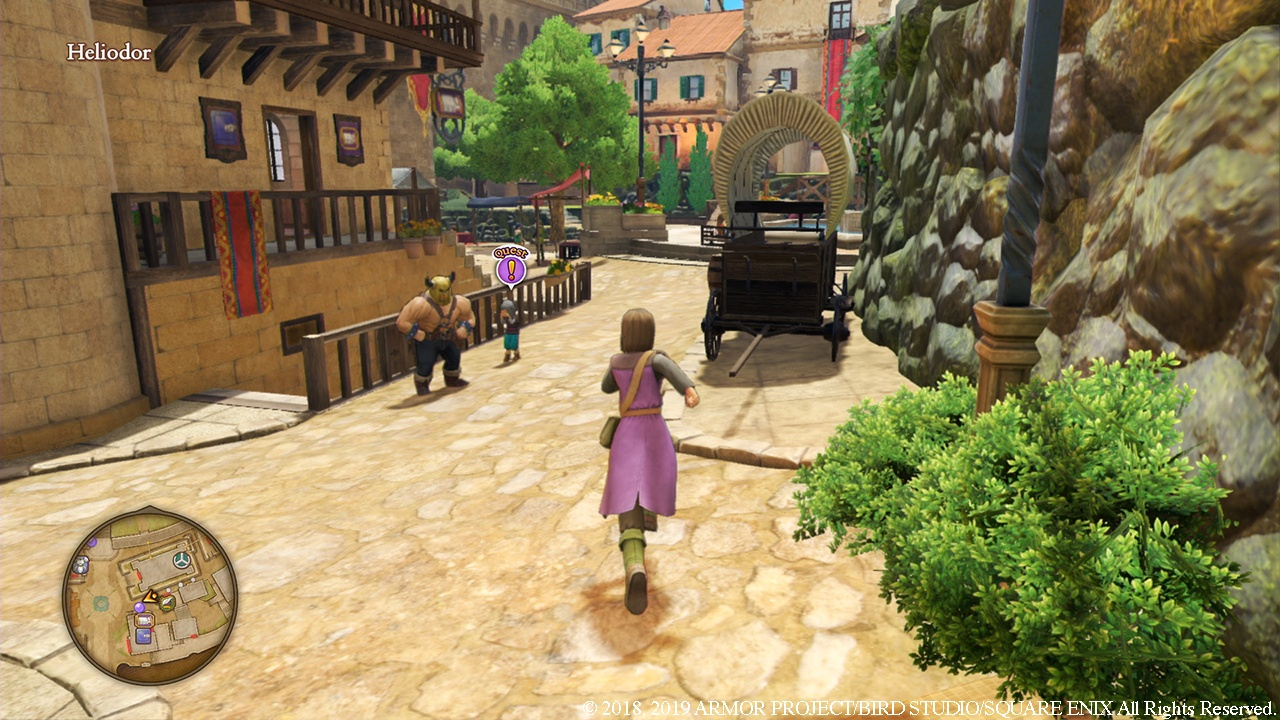 Towns in Dragon Quest XI S are full of life.