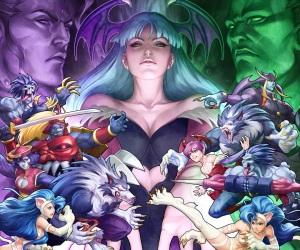 Darkstalkers-Resurrection-Q-Bee-and-Rikuo