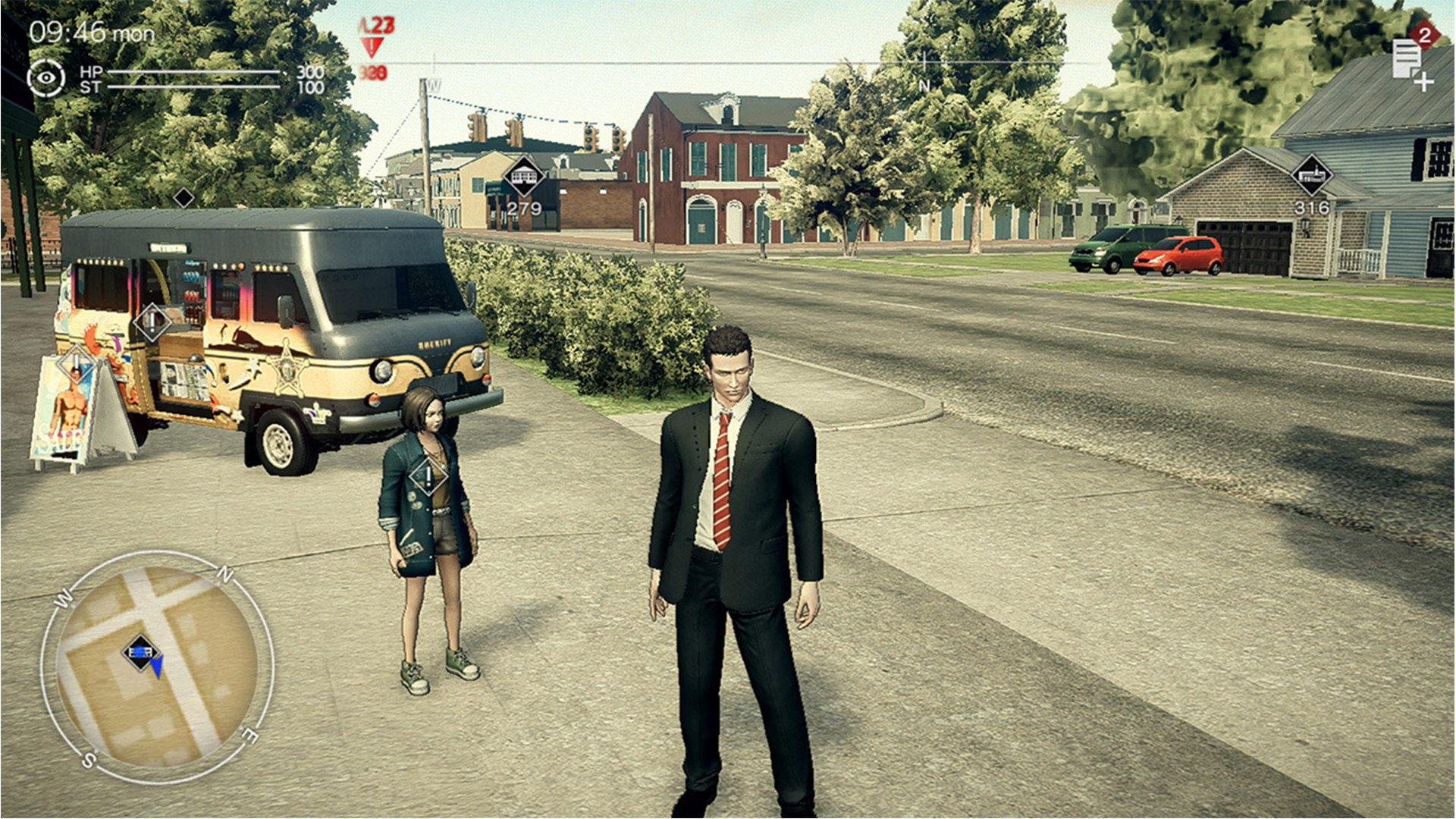 A screenshot from Deadly Premonition 2: A Blessing in Disguise review