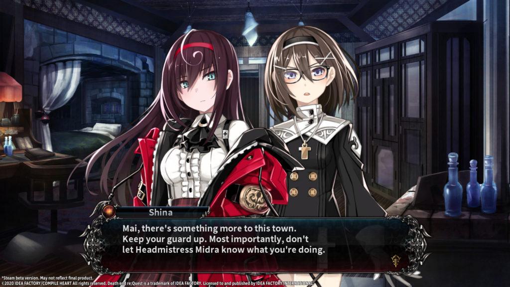A screenshot of Death End re;Quest 2