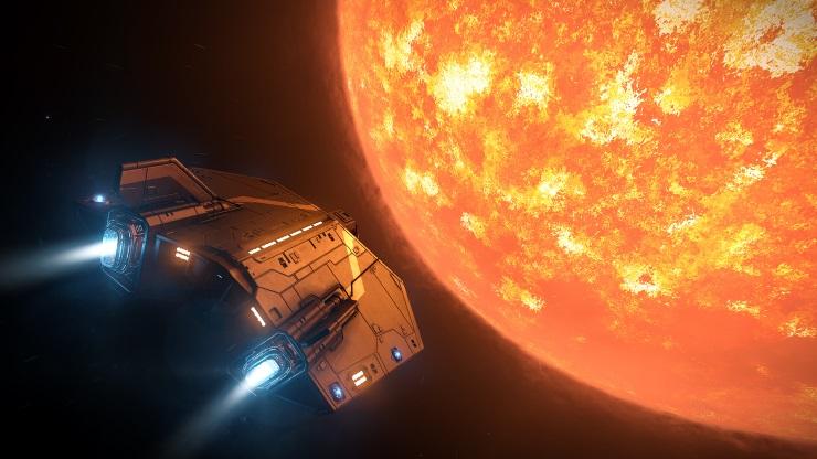 Elite Dangerous approaching planet
