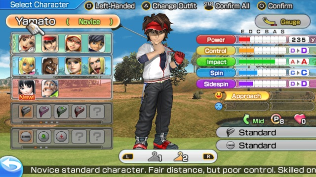 Everybody's Golf - Character Select