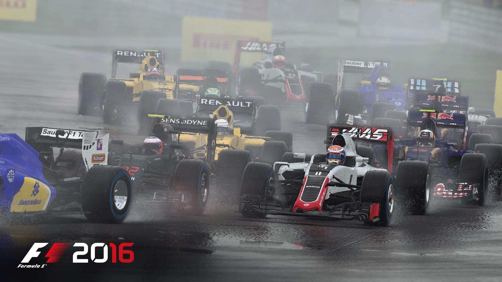 F1 2016 wet racing