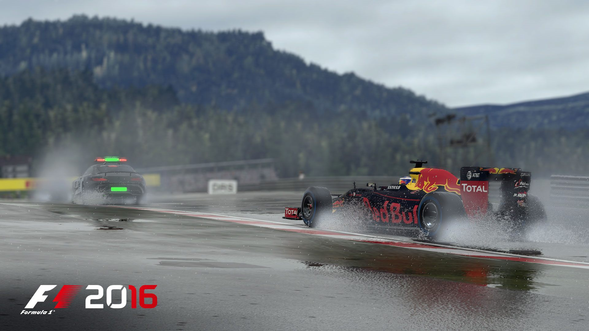 F1 2016 wet screenshot