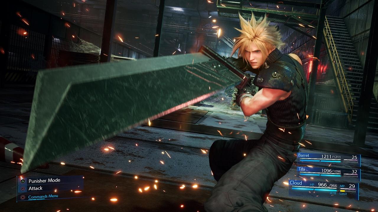 A screenshot from Final Fantasy 7 Remake