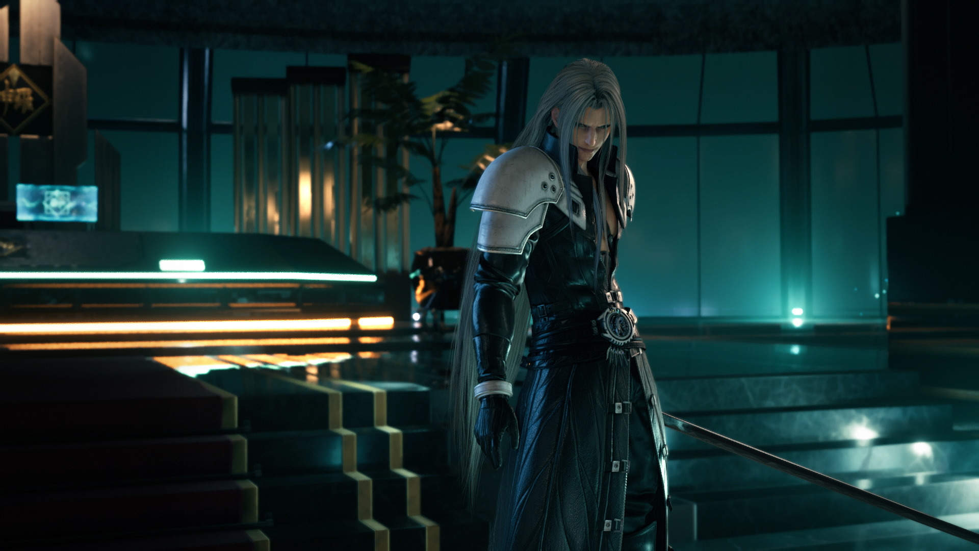 An image of Sephiroth from FFVII Remake