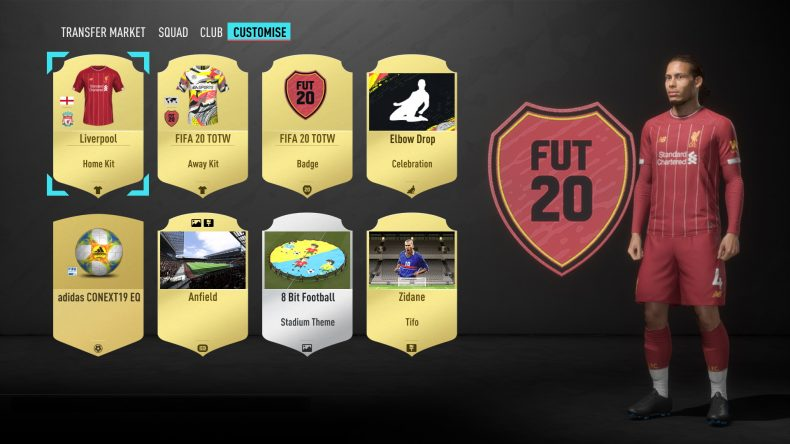 fifa 20 ultimate team customisation all the info