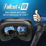 Every HTC Vive purchase now comes with FallOut 4