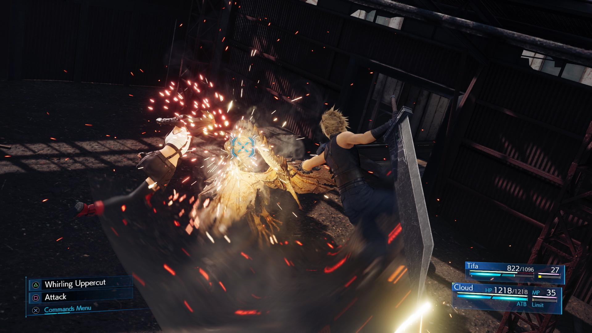 A screenshot from Final Fantasy VII Remake