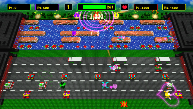 Frogger: Hyper Arcade Edition - Classic Graphics