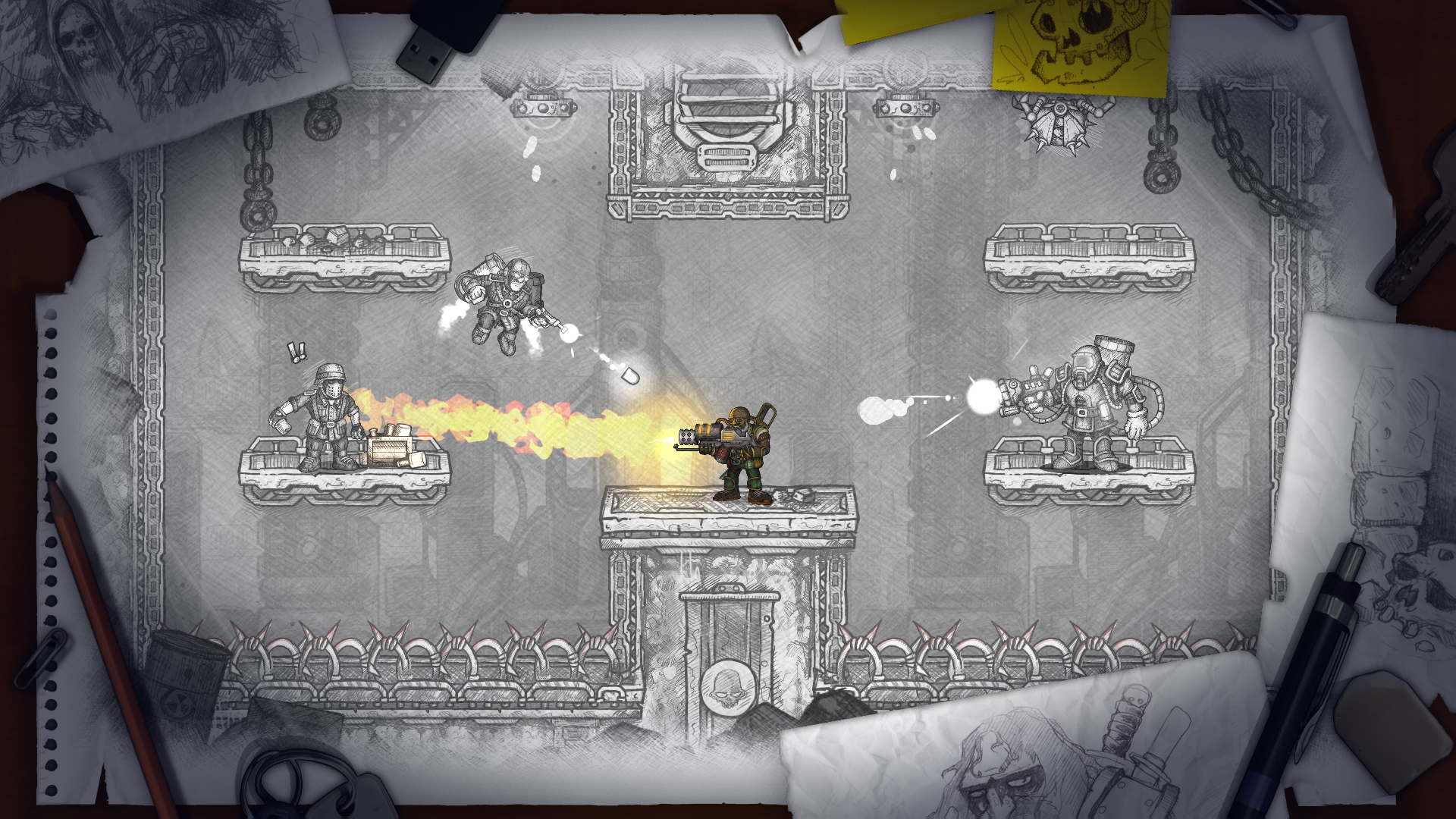 A screenshot from Fury Unleashed