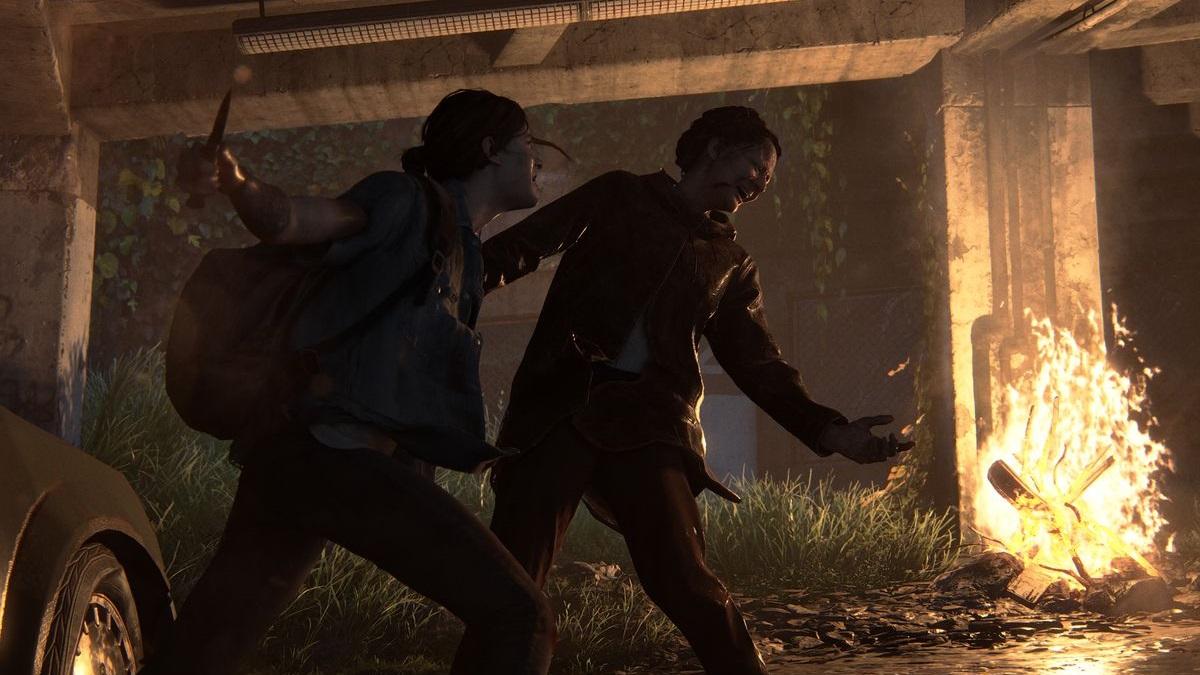 Ellie fighting the last of us part II