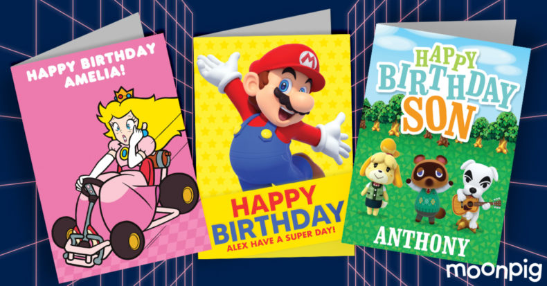 Gaming greetings cards