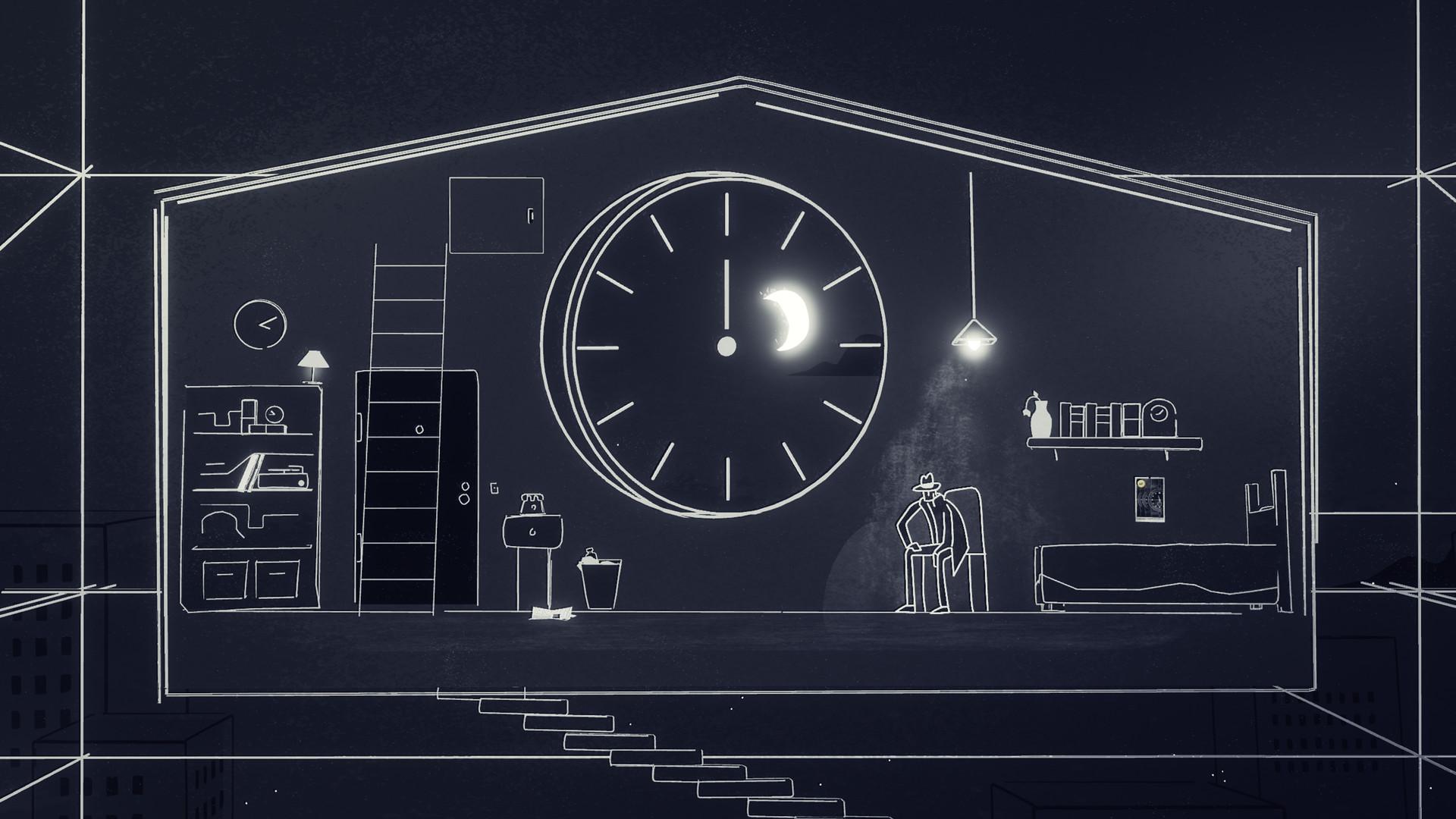 Genesis Noir Clock