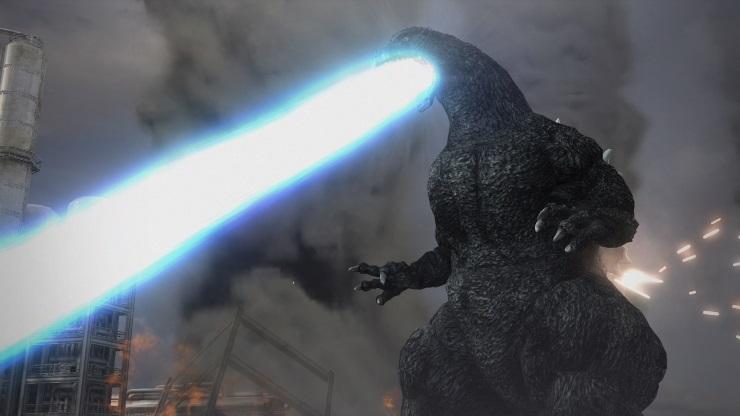 Godzilla flame blast