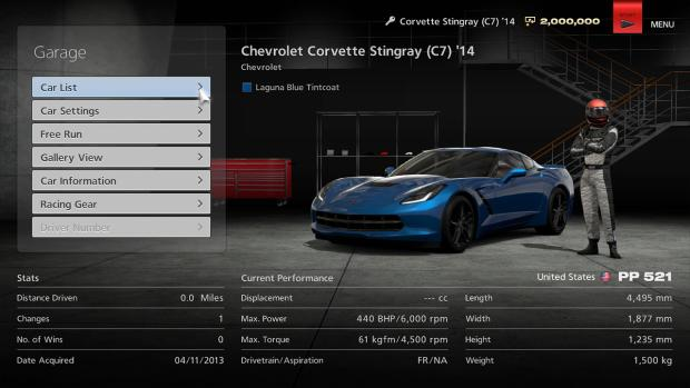 Gran Turismo 6 Garage