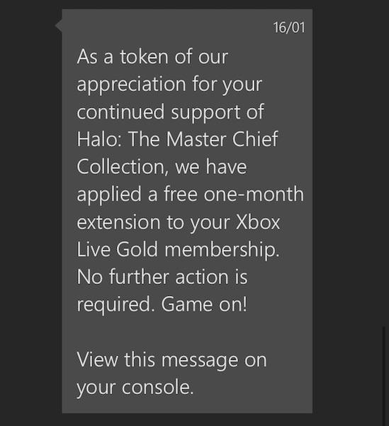 Halo apology