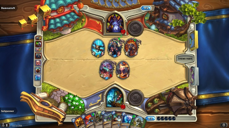 Hearthstone in game