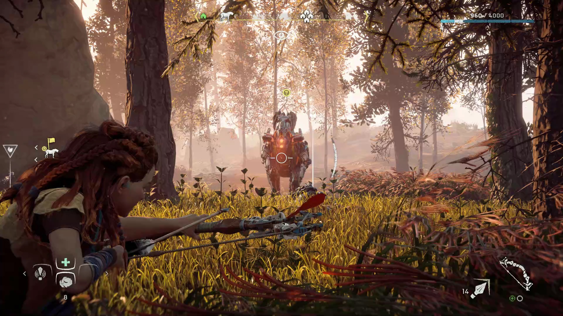 A screenshot from Horizon Zero Dawn: Complete Edition on PC