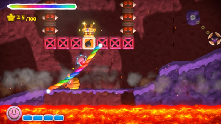 Kirby and the Rainbow Paintbrush review screenshot