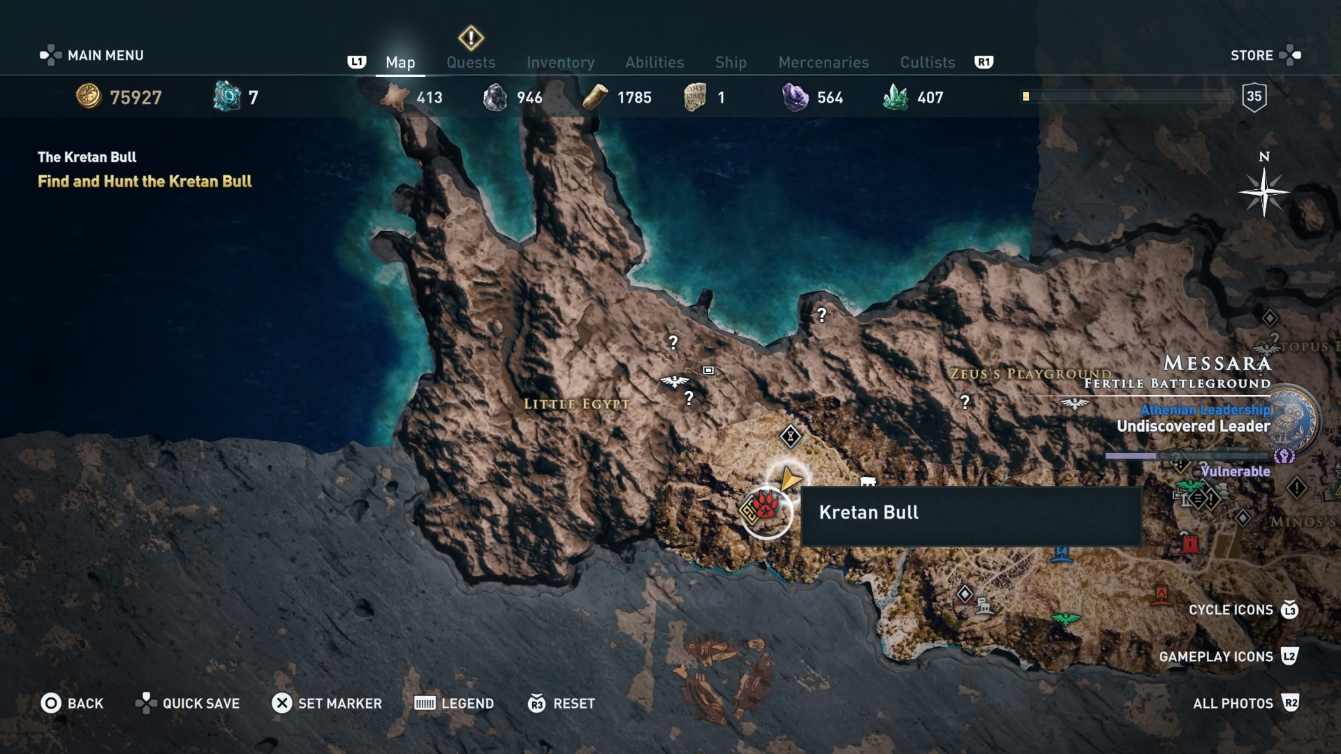 Assassin's Creed Odyssey: The Kretan Bull location