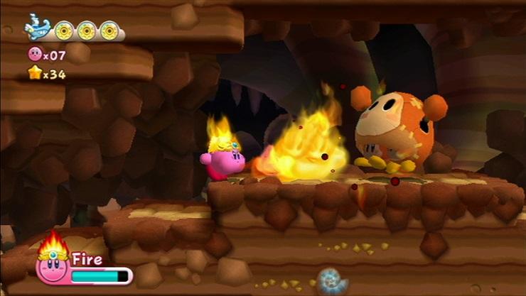 LTTP Kirby's Adventure Wii Screenshot