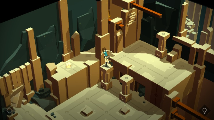 Lara Croft Go screen
