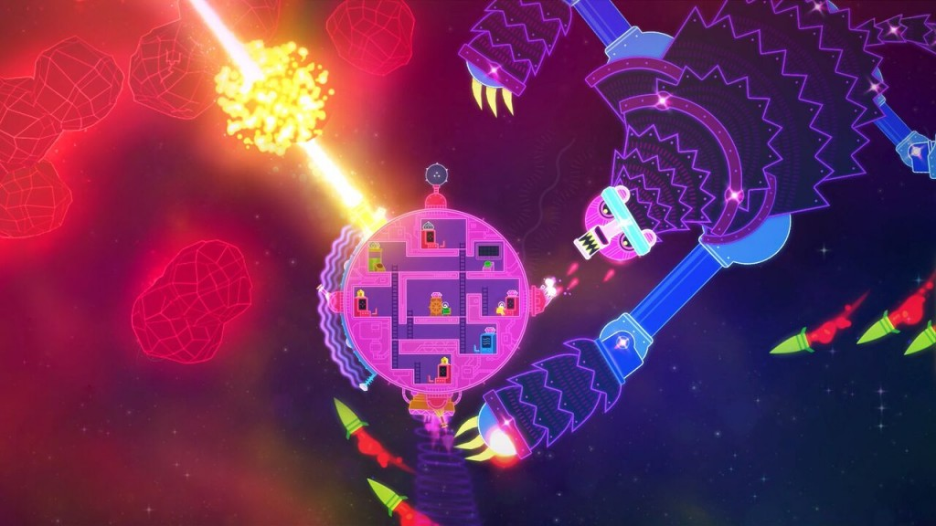 Lovers in a dangerous spacetime xbox one screenshot