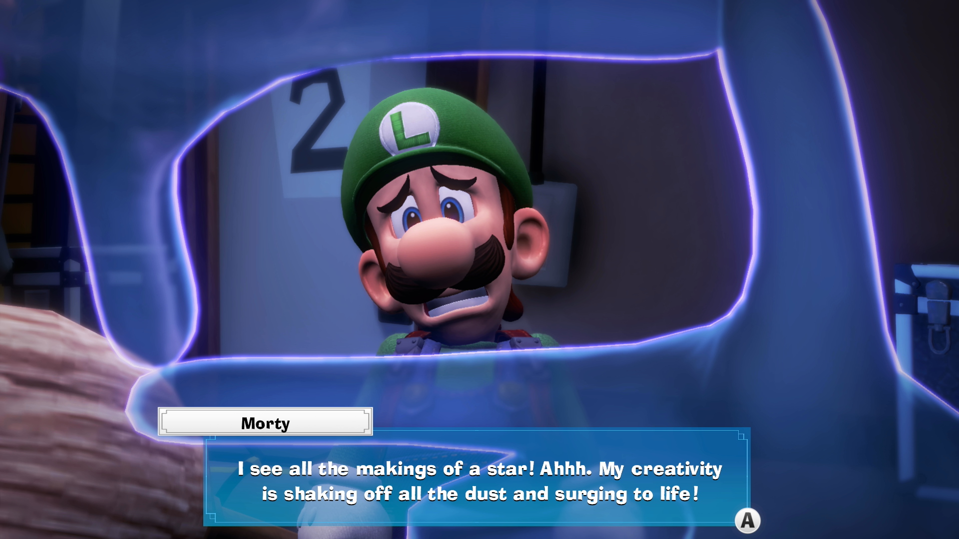 Luigi's Mansion 3: A screenshot showing dialogue