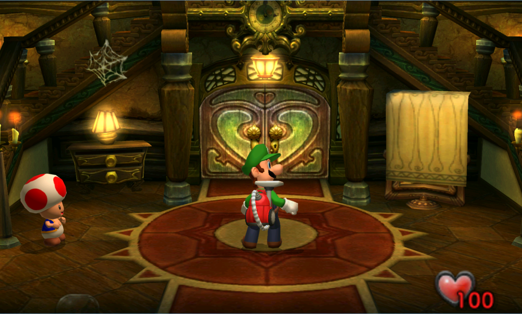 The Gamecube launch included Luigi's Mansion